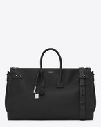 SAINT LAURENT Sac de Jour Men U Duffle Bag Large SAC DE JOUR SOUPLE 48H nera in pelle martellata f
