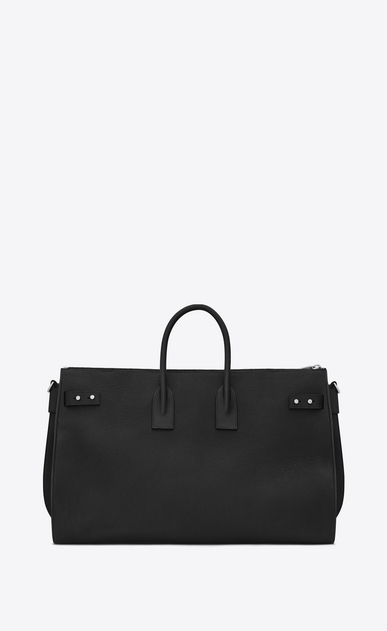 SAINT LAURENT Sac de Jour Men Uomo Duffle Bag Large SAC DE JOUR SOUPLE 48H nera in pelle martellata b_V4