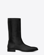 SAINT LAURENT Boots U MATT 25 Boot in Black Leather f