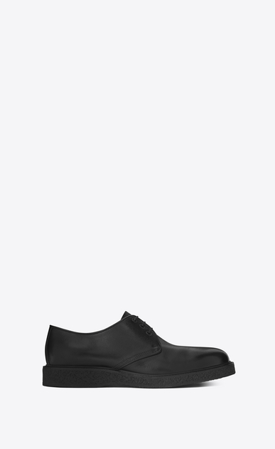 SAINT LAURENT Classic Shoes Man HUGO 25 Derby Shoe in Black Leather a_V4