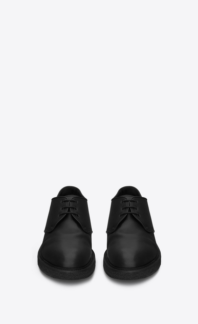 SAINT LAURENT Classic Shoes Man HUGO 25 Derby Shoe in Black Leather b_V4