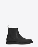 SAINT LAURENT Boots U HUGO 25 Chelsea Boot in Black Grained Leather f