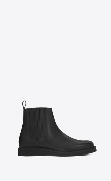 SAINT LAURENT Boots U HUGO 25 Chelsea Boot in Black Grained Leather a_V4