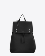 SAINT LAURENT Sac de Jour Men U SAC DE JOUR SOUPLE Backpack in Black Grained Leather f