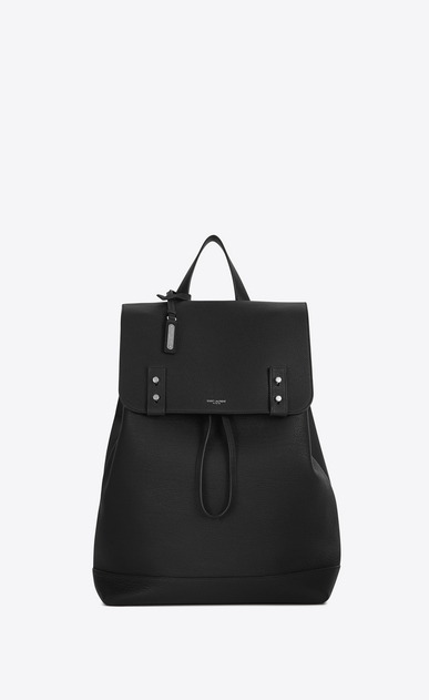 SAINT LAURENT Sac de Jour Men U SAC DE JOUR SOUPLE Backpack in Black Grained Leather a_V4