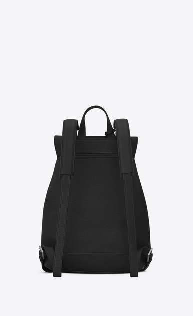 SAINT LAURENT Backpack Uomo Zaino SAC DE JOUR SOUPLE nero in pelle martellata b_V4