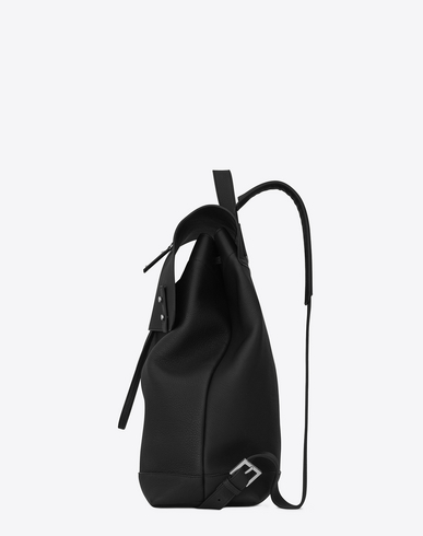 SAINT LAURENT Sac De Jour Souple Backpack In Black Grained Leather