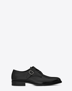 SAINT LAURENT Classic Shoes U DARE 25 Crossed Monkstrap Shoe in Black Leather f