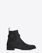 SAINT LAURENT Boots U DARE 25 Jodhpur Boot in Black Leather f