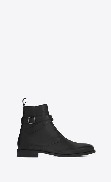 SAINT LAURENT Boots Man DARE 25 Jodhpur Boot in Black Leather a_V4