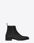 SAINT LAURENT Boots U DARE 25 Chelsea Boot in Black Leather f