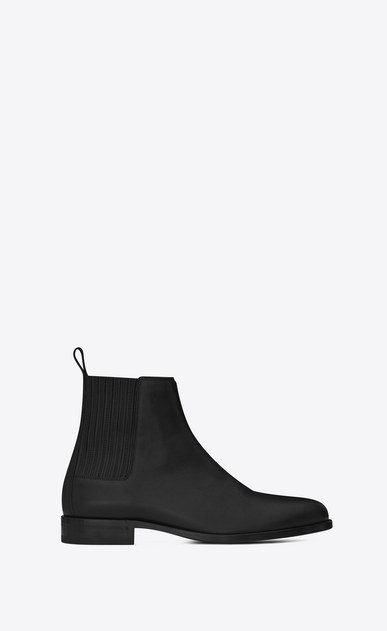 SAINT LAURENT Boots Man DARE 25 Chelsea Boot in Black Leather a_V4