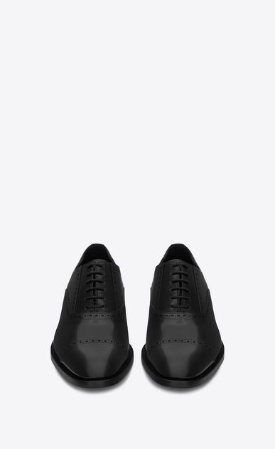 SAINT LAURENT Classic Shoes Man MONTAIGNE 25 Richelieu Shoe in Black Leather b_V4