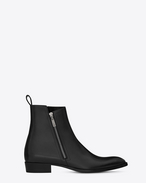 SAINT LAURENT Boots U WYATT 30 Zip Boot in Black Leather f