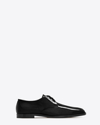 SAINT LAURENT Scarpe Classiche U SMOKING 15 Derby nere in vernice f