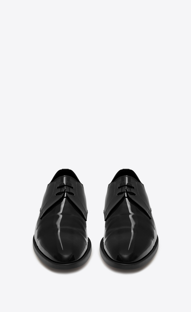 SAINT LAURENT Classic Shoes U SMOKING 15 Derby in Black Patent Leather b_V4