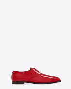 SAINT LAURENT Classic Shoes U SMOKING 15 Derby in Red Patent Leather f