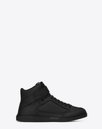 SAINT LAURENT High top sneakers U ANTIBE 05 Scratch Mid Top Sneaker in Black Leather f