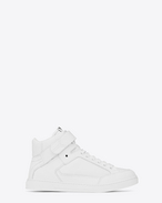 SAINT LAURENT High top sneakers U joe Scratch Mid Top Sneaker in Optic White Leather f