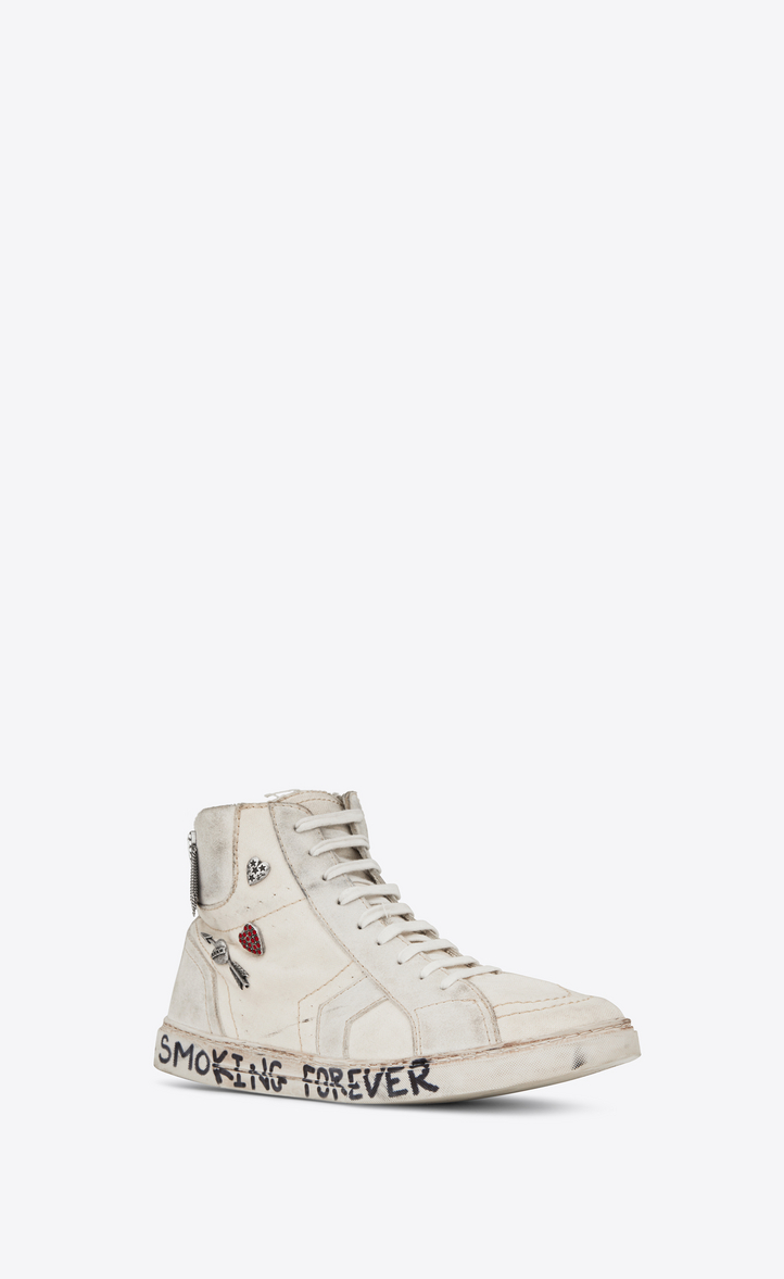 6384305052daa Zoom  joe Mid Top Sneaker in Used White Canvas and Ivory Suede