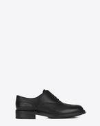 SAINT LAURENT Classic Shoes U WILLIAM 25 Embroidered Wingtip Derby Shoe in Black Leather f