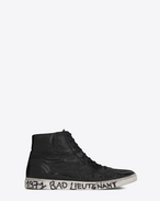 SAINT LAURENT High top sneakers U joe Mid Top Sneaker in Black Worn Moroder Leather f