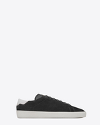SAINT LAURENT SL/06 U Signature COURT CLASSIC SL/06 Sneaker in Graphite Suede and Optic White Leather f