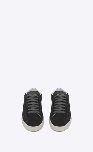 SAINT LAURENT SL/06 Man signature court sl/06 sneaker in graphite suede and optic white leather b_V4