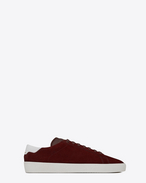 SAINT LAURENT SL/06 U Signature COURT CLASSIC SL/06 Sneaker in Light Burgundy Suede and Optic White Leather f