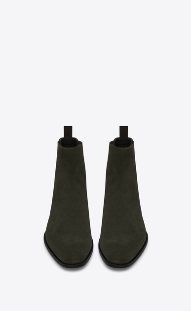 SAINT LAURENT Boots U WYATT 30 CHELSEA Boot in Army Green Suede b_V4