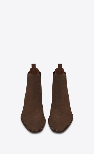 SAINT LAURENT Boots Man WYATT 30 Chelsea Boot in Brown Suede b_V4