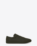 SAINT LAURENT Low Sneakers U Klassischer Signature Court SL/01 Sneaker aus armygrünem Leder  f