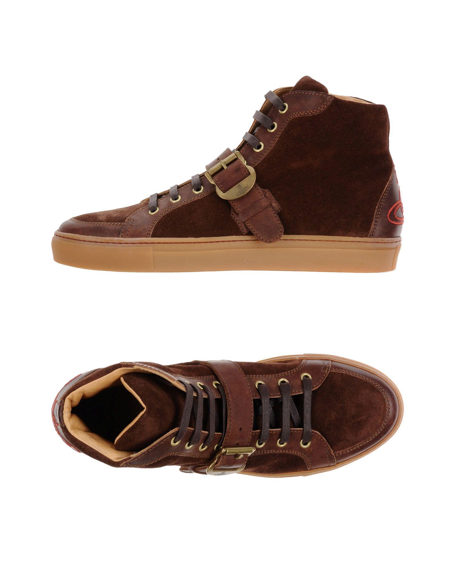 VIVIENNE WESTWOOD MAN Herren High Sneakers & Tennisschuhe Farbe Mittelbraun Größe 9