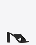 SAINT LAURENT Loulou D loulou 95 mule sandal in black leather  f