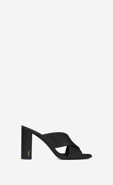 SAINT LAURENT Loulou D loulou 95 mule sandal in black leather a_V4