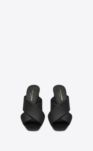 SAINT LAURENT Loulou D loulou 95 mule sandal in black leather  b_V4