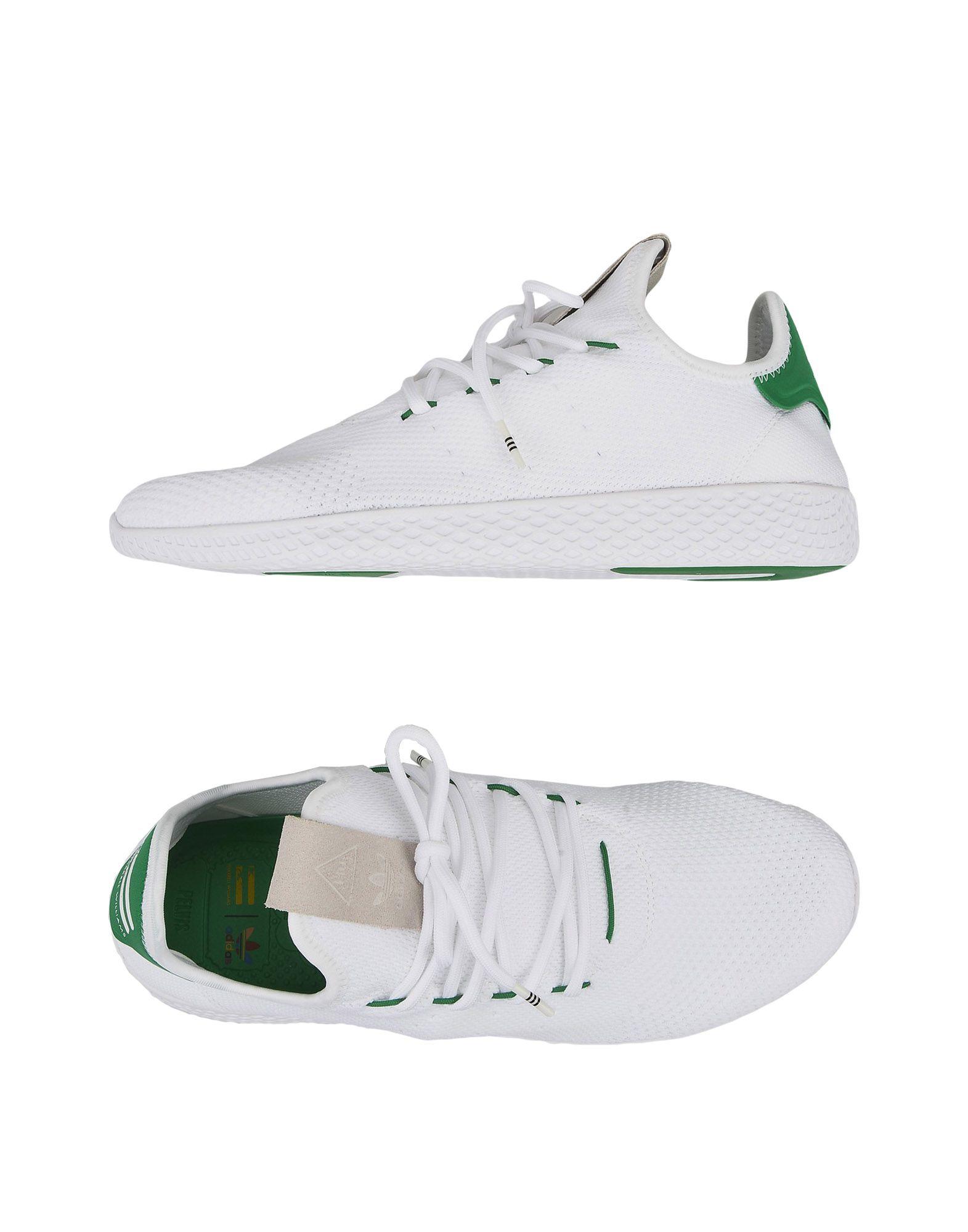 《送料無料》ADIDAS ORIGINALS by PHARRELL WILLIAMS メンズ スニーカー&テニスシューズ(ローカット) ホワイト 4.5 紡績繊維 TENNIS HU