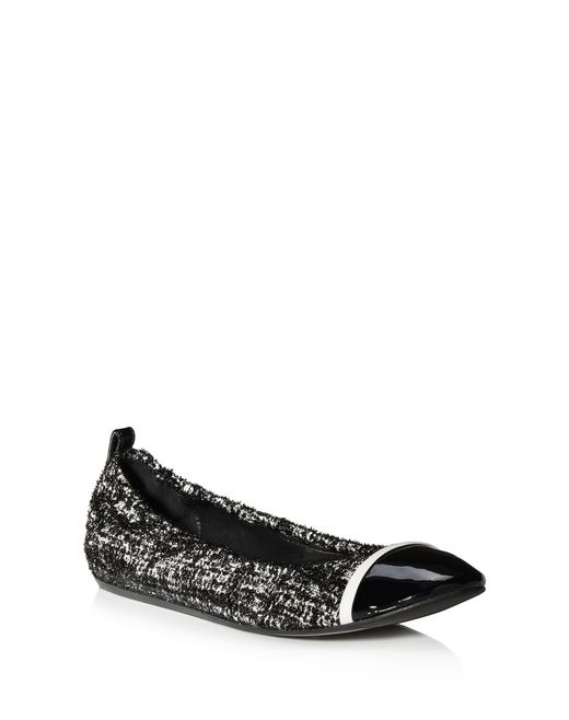 lanvin tweed ballet flat women
