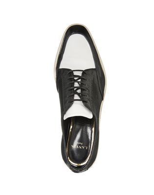 DUAL MATERIAL DERBY SHOE