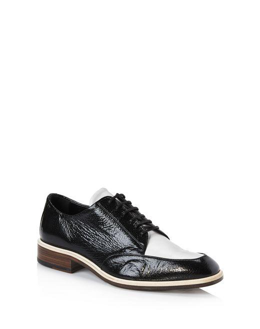 lanvin dual material derby shoe women