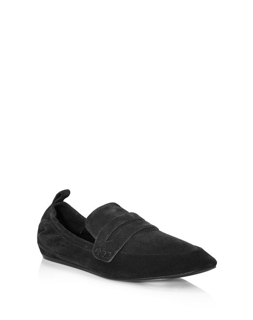 lanvin supple suede calfskin loafer women