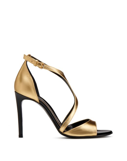 lanvin gold sandal women