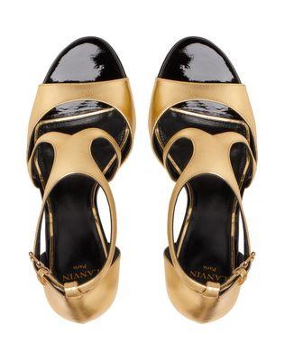 LANVIN GOLD SANDAL Sandals D a