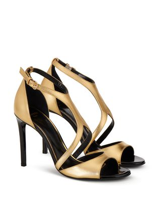 LANVIN GOLD SANDAL Sandals D r