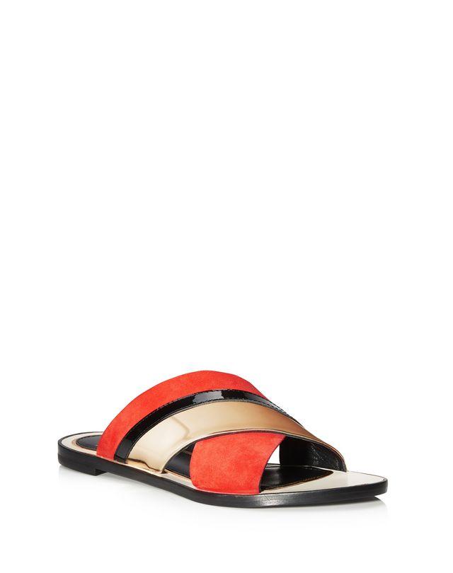 LANVIN MIRROR CROSSOVER SANDAL Sandals D f
