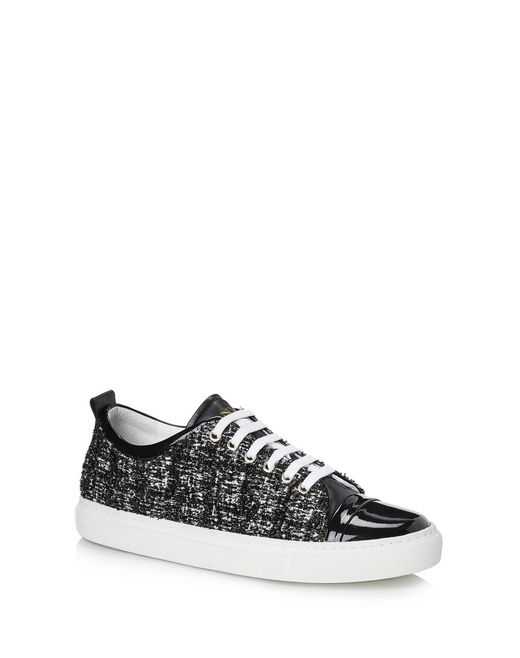 lanvin tweed trainer women