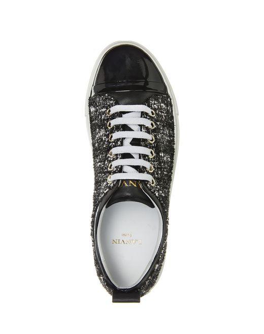 lanvin tweed sneaker women