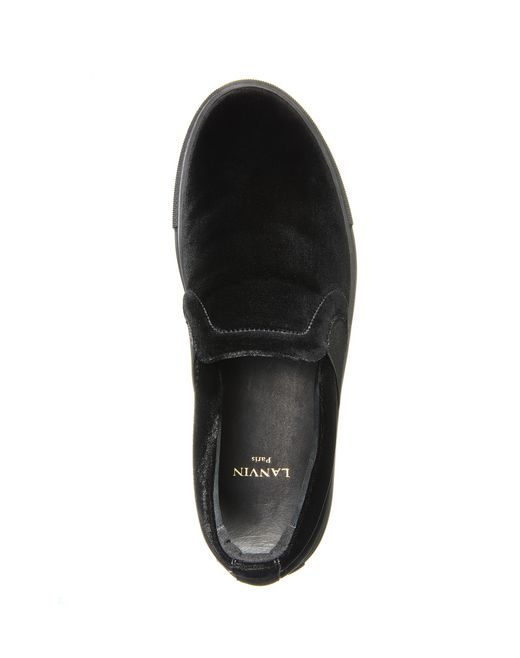 lanvin velvet slip-on women