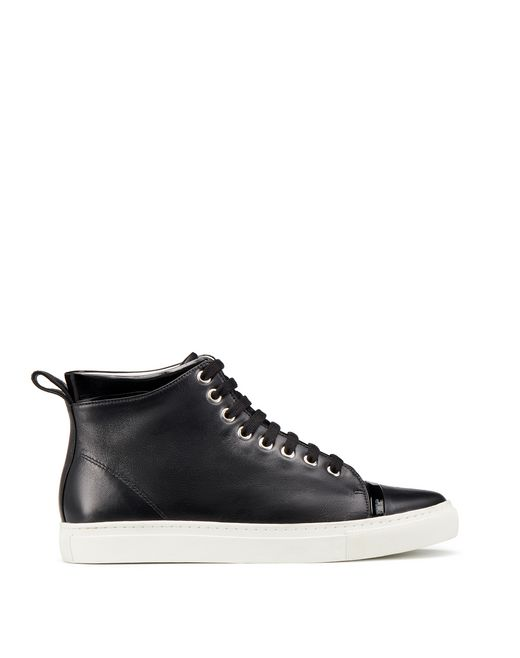 lanvin nappa mid-top trainer women