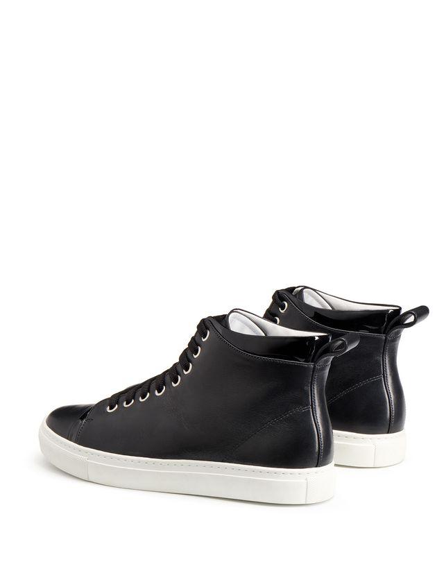 LANVIN NAPPA MID-TOP SNEAKER Sneakers D d